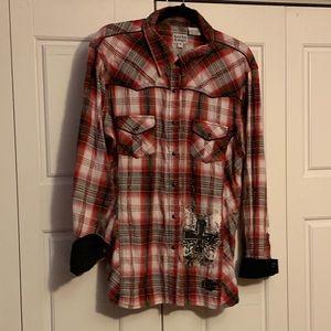 Rock & Roll Cowgirl western shirt w/embellishments